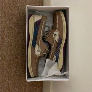 Sperry Top-Sider: Bluefish Greige/Purple